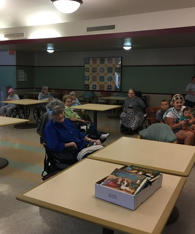 Patients listening to reader
