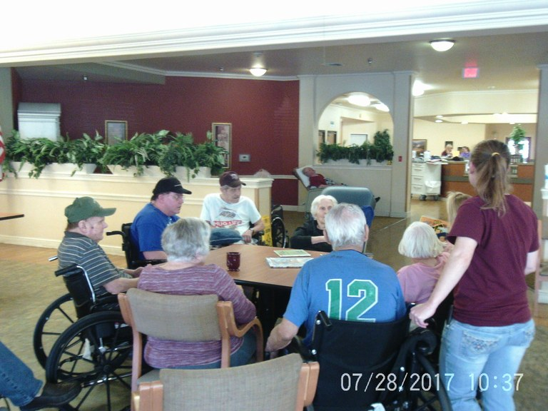 Patients listening to reader
