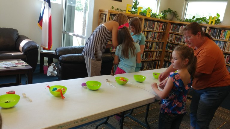 Story Time group making maracas